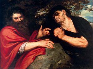 Heraclito y Democrito de Rubenso