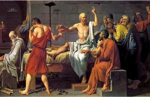 La muerte de Sócrates de Jacques Louis David